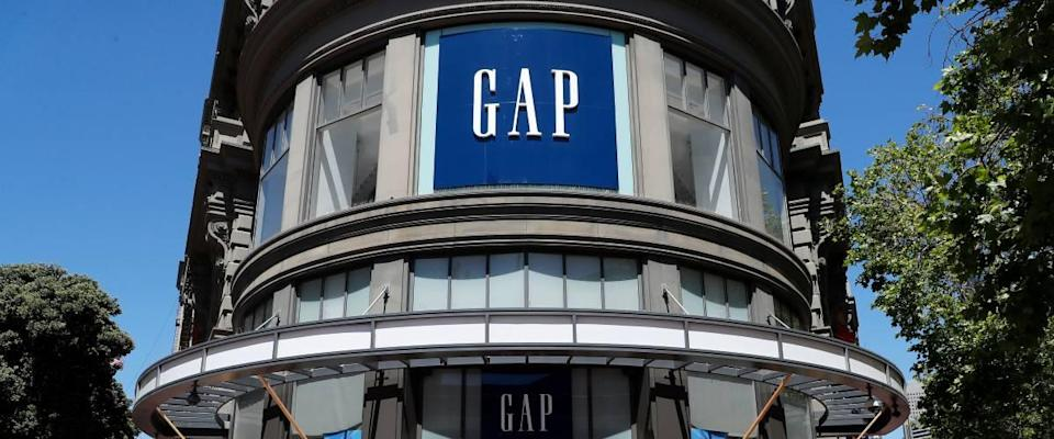 GAP store outside view, GAP sign