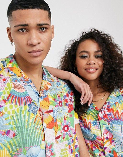 """<p><strong>ASOS Made in Kenya</strong></p><p>us.asos.com</p><p><strong>$48.00</strong></p><p><a href=""""https://go.redirectingat.com?id=74968X1596630&url=https%3A%2F%2Fwww.asos.com%2Fus%2Fasos-made-in%2Fasos-made-in-kenya-revere-shirt-in-bright-floral-print%2Fprd%2F11061146&sref=https%3A%2F%2Fwww.goodhousekeeping.com%2Fbeauty%2Ffashion%2Fg31811906%2Fcute-summer-outfits%2F"""" rel=""""nofollow noopener"""" target=""""_blank"""" data-ylk=""""slk:Shop Now"""" class=""""link rapid-noclick-resp"""">Shop Now</a></p><p>Add a playful touch to your jeans or skit with a shirt that's got a bold print. Look for pieces that highlight palm trees, bright florals, and even fruit. </p>"""
