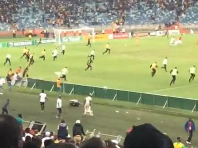 South African security guard seriously injured after Kaizer Chiefs Nedbank Cup defeat sparks violent riot