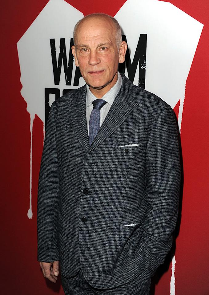 """HOLLYWOOD, CA - JANUARY 29:  Actor John Malkovich arrives for the Los Angeles premiere of Summit Entertainment's """"Warm Bodies"""" at ArcLight Cinemas Cinerama Dome on January 29, 2013 in Hollywood, California.  (Photo by Kevin Winter/Getty Images)"""