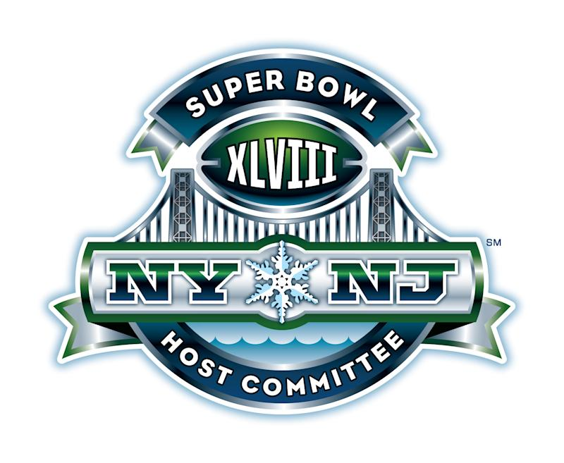 "This image provided by the NFL shows the logo for the 2014 New Jersey/New York Super Bowl. Roger Goodell noticed the snowflake in icy blue-and-white, centered before the George Washington Bridge, during the debut of the logo for the 2014 Super Bowl.   ""I think that's great,"" the NFL commissioner said Tuesday, Sept. 27, 2011. ""A little snow would be great for us. But whatever comes our way, we're going to be prepared for it."" (AP Photo/NFL)"