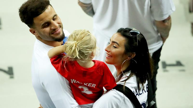 Kyle Walker and Annie Kilner, pictured here at the 2018 FIFA World Cup in Russia.