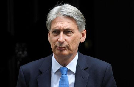 Chancellor of the Exchequer Philip Hammond leaves 11 Downing Street in London