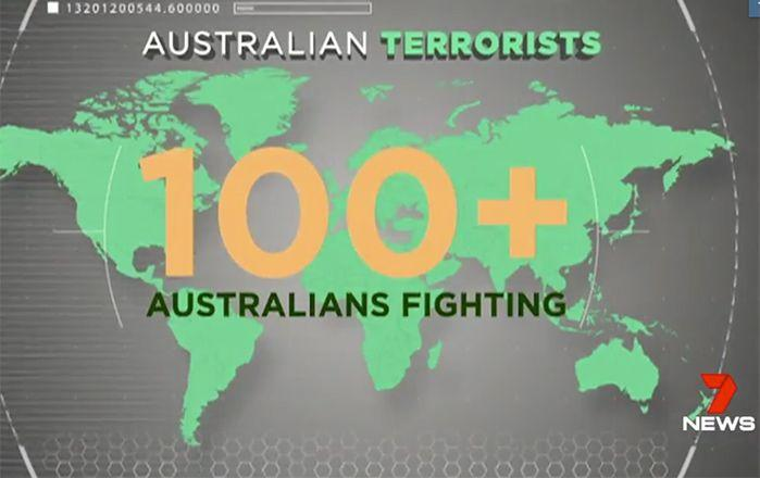 There are just over 100 other Australians fighting in Syria and Iraq. Picture: 7 News