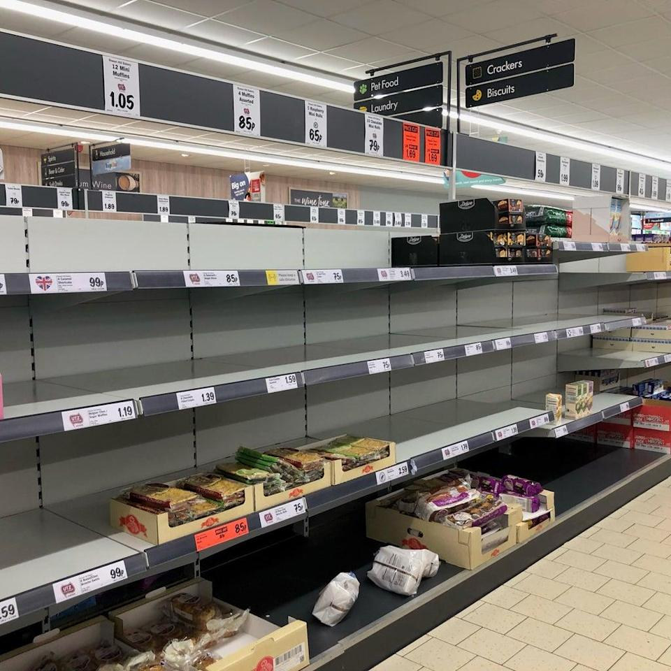 Some supermarkets have had empty shelves amid supply issues (PA) (PA Wire)