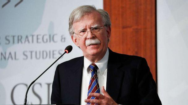 PHOTO: Former National security adviser John Bolton speaking at the Center for Strategic and International Studies in Washington, Sept. 30, 2019. (Pablo Martinez Monsivais/AP, FILE)