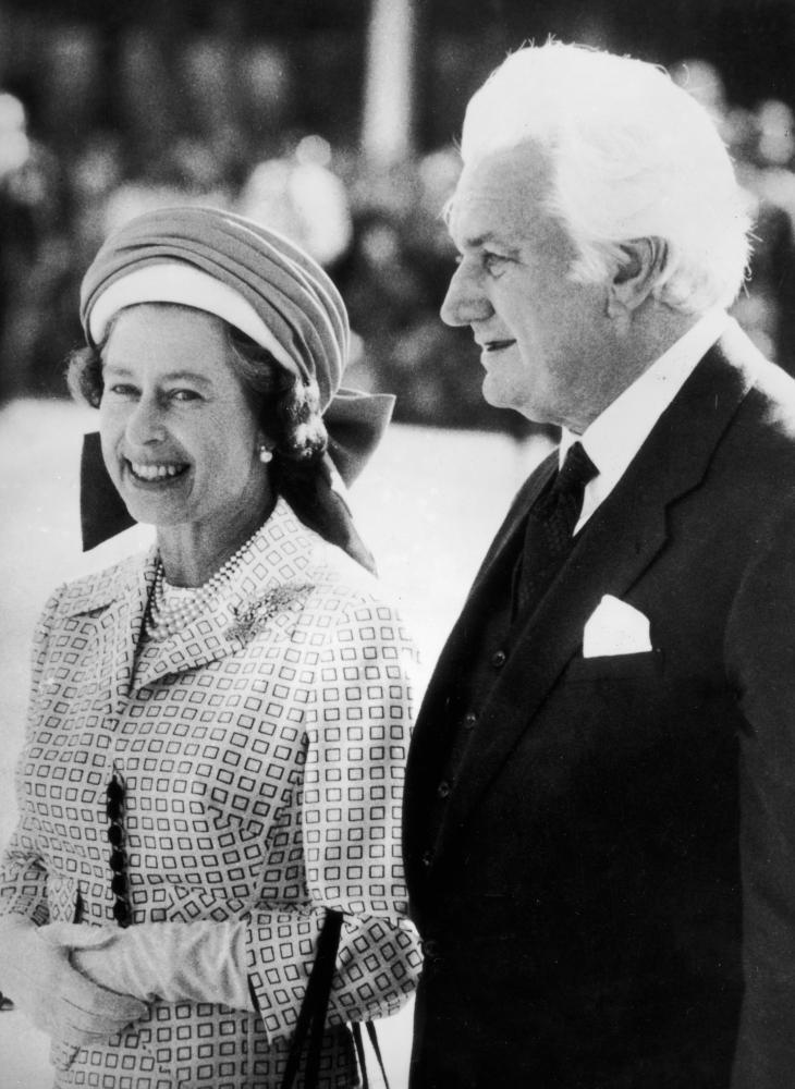 """Sir John Kerr and Queen Elizabeth II: 'It is impossible to separate Kerr's decisions from his intractable view of his """"duty"""" to the monarch and the monarchy.'"""
