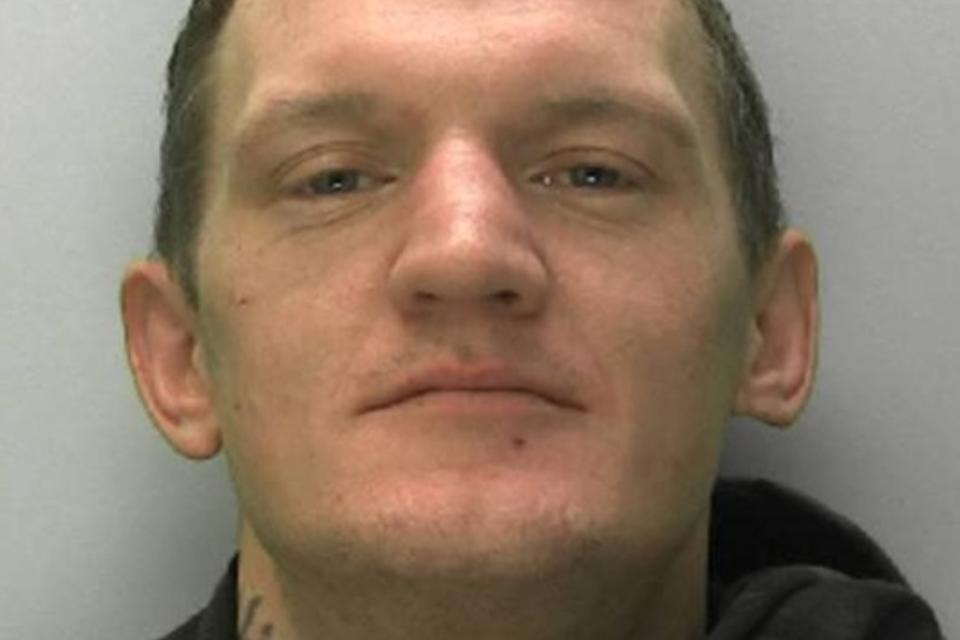Jason Stratford, 36, entered a bar in Cirencester at around 1am on January 2 and tried to steal several bottles of alcohol. (Gloucestershire Police)