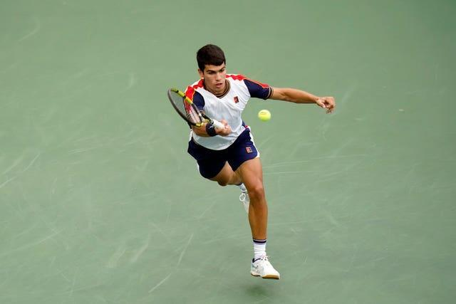 Carlos Alcaraz made a slice of history at the US Open