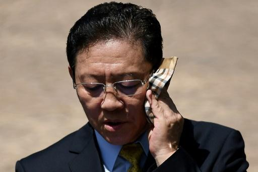 Expelled N. Korea envoy fires final salvo from Malaysia airport