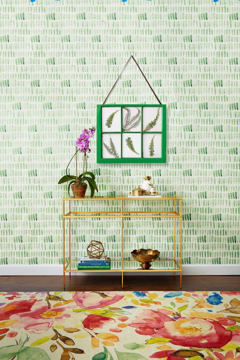 <p>Don't be afraid to go bold with striking wallpaper. Try a peel-and-stick design if you're not ready to make the full commitment. </p>