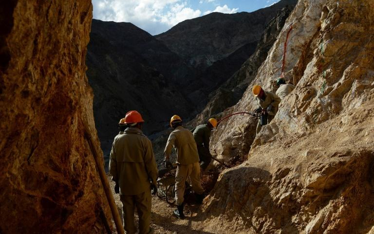 Afghan workers at a gold mine in Baghlan province in the north of the country in 2013