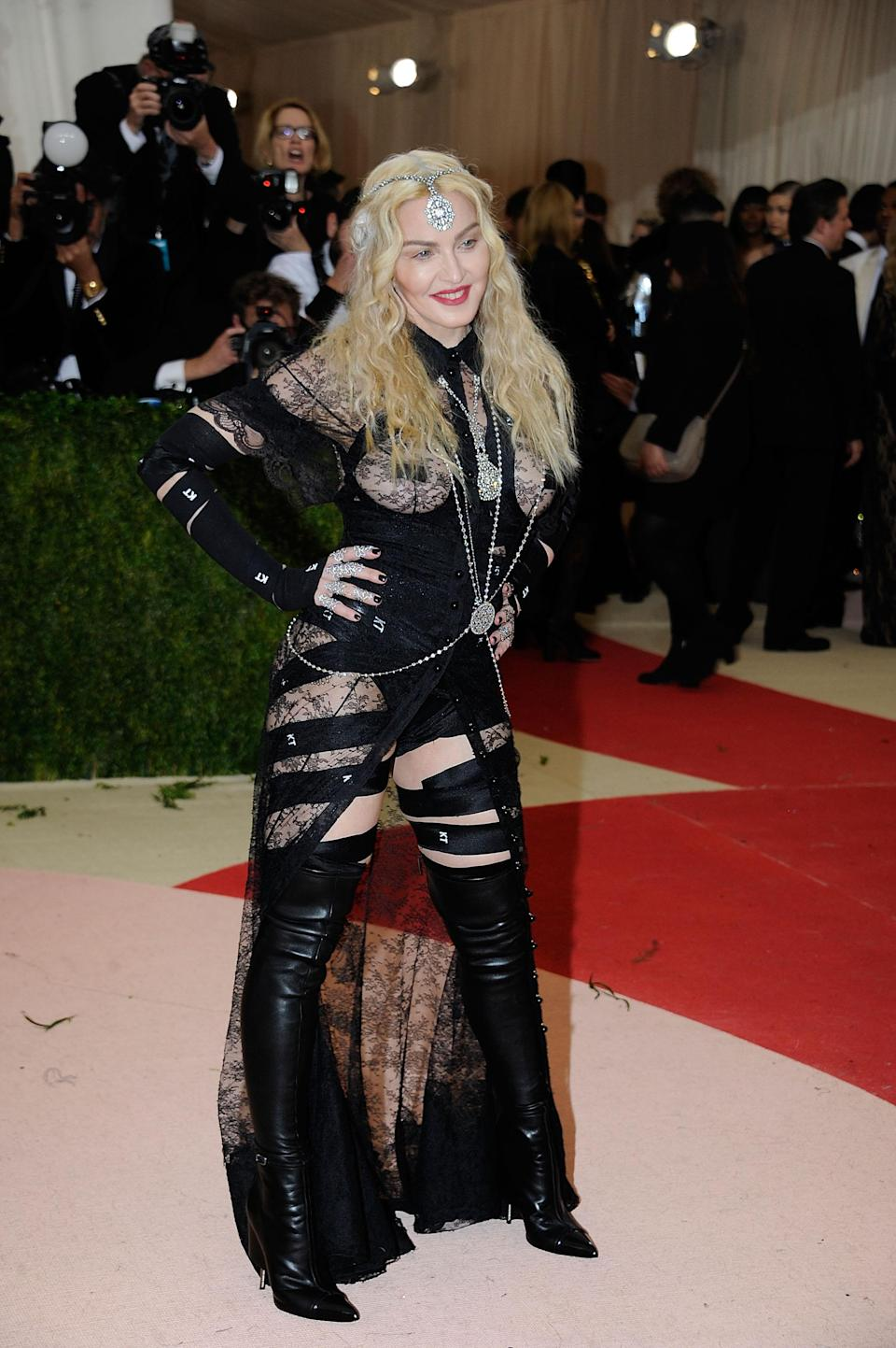 Madonna was criticized for her appearance at the 2016 Met Gala. (Photo: Getty Images)