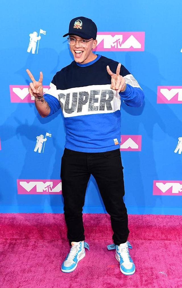 <p>Logic attends the 2018 MTV Video Music Awards at Radio City Music Hall on August 20, 2018 in New York City. (Photo: Nicholas Hunt/Getty Images for MTV) </p>