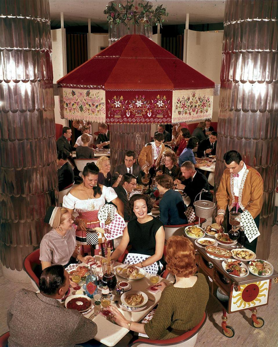 <p>The first Benihana restaurant opened in New York City in 1964, and other international cuisines—like Chinese, Indian and Mexican— became incredibly popular during this time as well.</p>