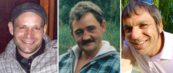 <strong>The victims: Lukasz Slaboszewski, John Chapman and Kevin Lee</strong> (PA)
