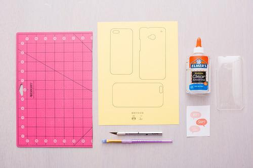 First Up Print Out The Last Page Of Our Phone Case Template Onto Colored Card Stock Or Paper