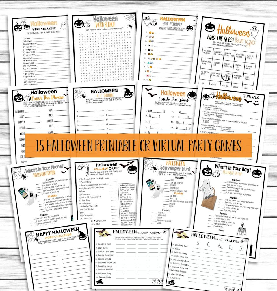 Print these Halloween Trivia games at home and enjoy quizzing your family.