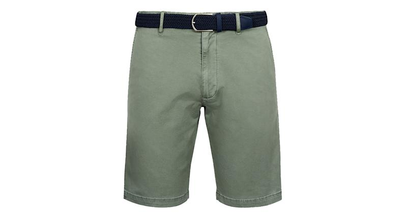 Stretch Belted Chino Shorts