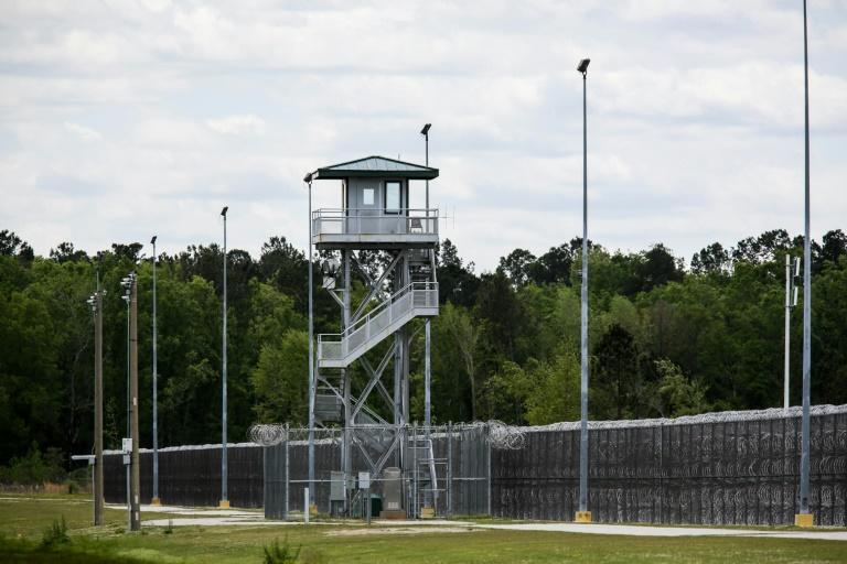 A guard tower at the Lee Correctional Institution in Bishopville, South Carolina
