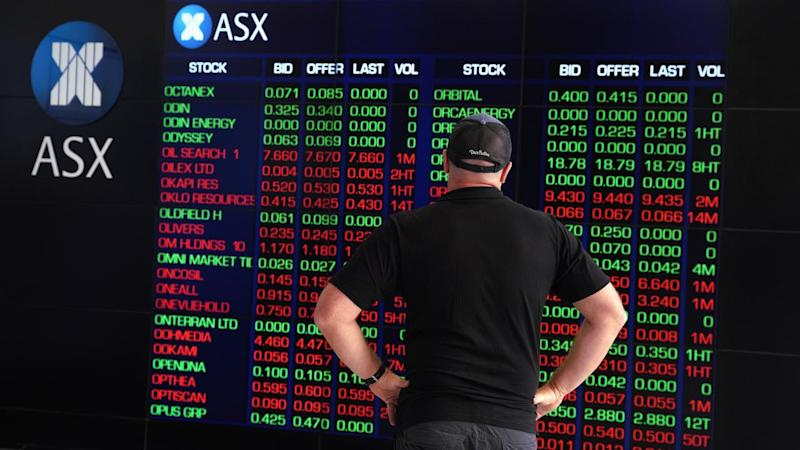 Australian shares dropped to near four-month lows on Monday