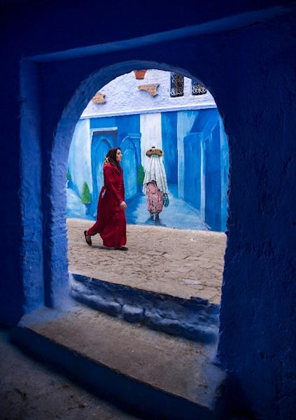 The Moroccan city of Chefchaouen wants to become a model for sustainable development (AFP Photo/FADEL SENNA)