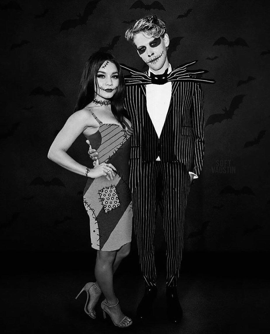 Vanessa Hudgens and Austin Butler killed it paying an adorable homage to one of Halloween's cutest couples ever: Jack Skellington and Sally from <em>The Nightmare Before Christmas</em>.