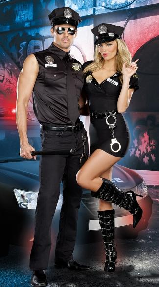 """Yandy's """"Dirty Cop Duo"""" — featuring """"Ed Banger"""" and """"Anita Bribe"""" is one of countless police-themed costumes available this Halloween. (Photo: Yandy)"""