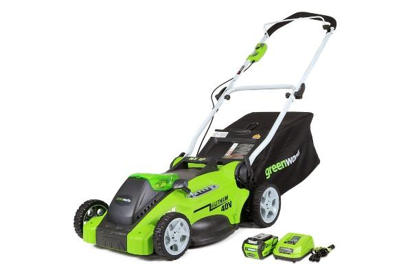 Greenworks 16-Inch 40V Cordless Lawn Mower. (Photo: Amazon)
