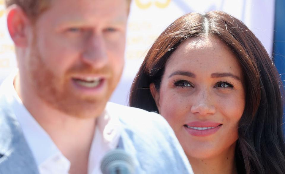 Meghan admitted she was 'naive' about the British tabloids [Photo: Getty]