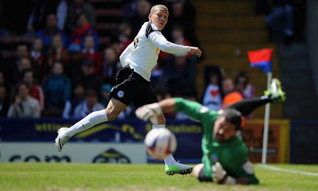 """<span class=""""element-image__caption"""">Dwight Gayle, seen here playing for Peterborough against his future club Crystal Palace in 2013, was a sound investment for Barry Fry. </span> <span class=""""element-image__credit"""">Photograph: Christopher Lee/Getty Images</span>"""