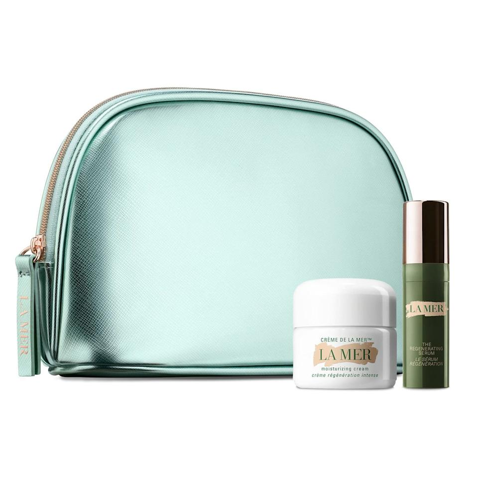 """<p>Whether you've yet to experience the luxurious moisture of La Mer or are already a devotee and have been dying to introduce it to a friend, this kit is the way to go. It includes two of fan-favorites: the Regenerating Serum and the iconic Crème de la Mer Moisturizing Cream, over which <a href=""""https://www.allure.com/review/la-mer-creme-de-la-mer?mbid=synd_yahoo_rss"""">Blake Lively once effused</a>: """"It's extravagant, but it's the best.""""</p> <p><strong>$90</strong> (<a href=""""https://click.linksynergy.com/deeplink?id=MZ9491VLjxM&mid=1237&u1=allureGGnordstromgifts&murl=https%3A%2F%2Fshop.nordstrom.com%2Fs%2Fla-mer-regenerating-mini-miracles-set-nordstrom-exclusive-151-value%2F5375121%2Flite%3Forigin%3Dcategory-personalizedsort%26breadcrumb%3DHome%252FHome%2520%2526%2520Gifts%252FGifts%252FGifts%2520for%2520Her%26color%3Dnone"""" rel=""""nofollow"""">Shop Now</a>)</p>"""