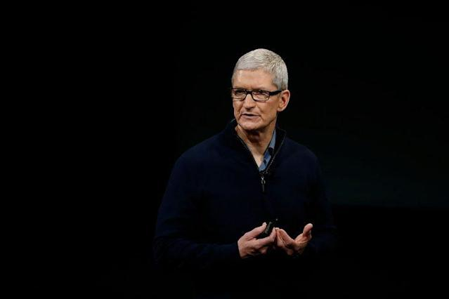 Apple CEO Tim Cook.(Photo by Stephen Lam/Getty Images)