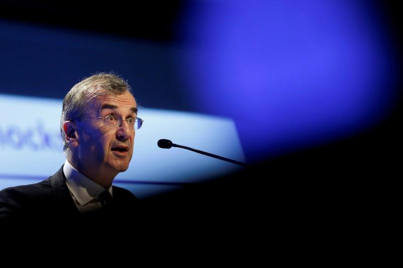 FILE PHOTO: French Central bank Governor Villeroy de Galhau attends the 2016 Institute of International Finance (IIF) Spring Membership meeting in Madrid