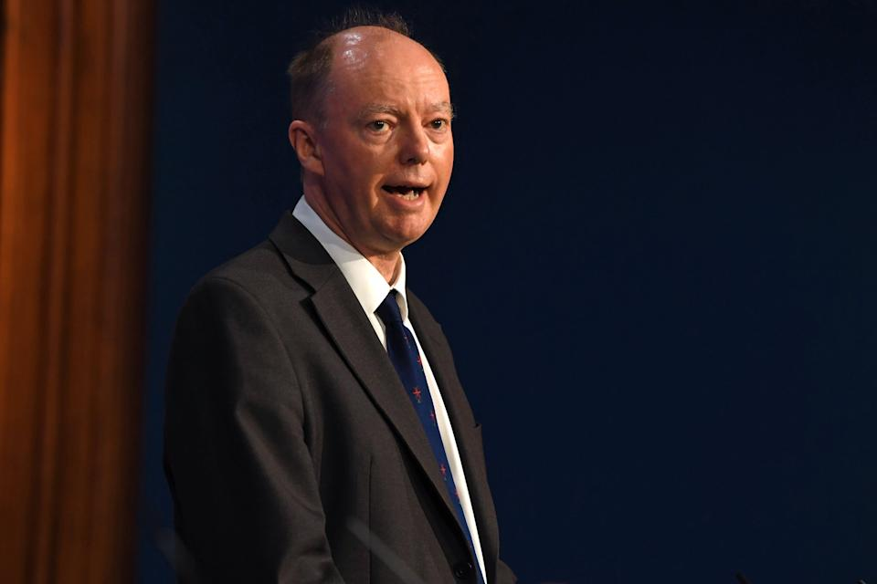 Chief medical officer for England Professor Chris Whitty (PA Wire)