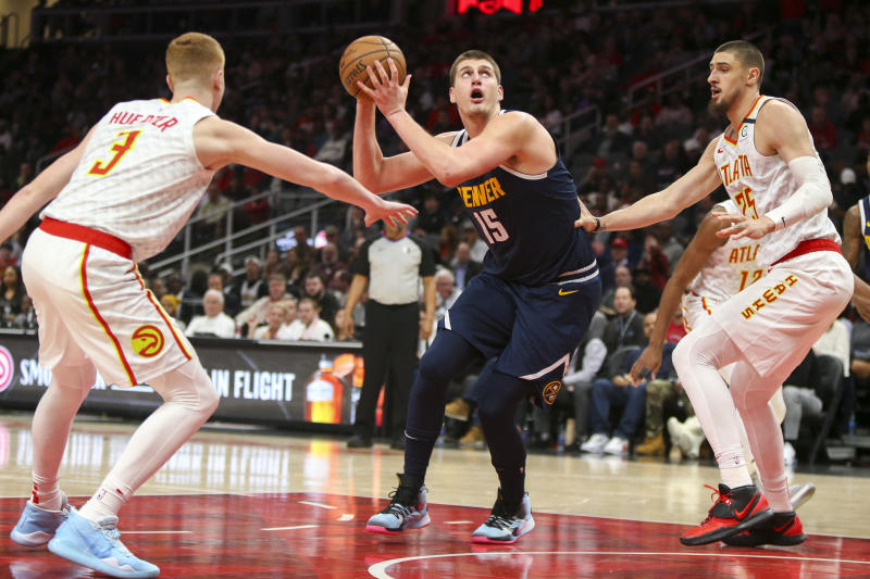 Nikola Jokic posted a career high after ending up on the wrong end of a highlight reel. (Brett Davis/Reuters)