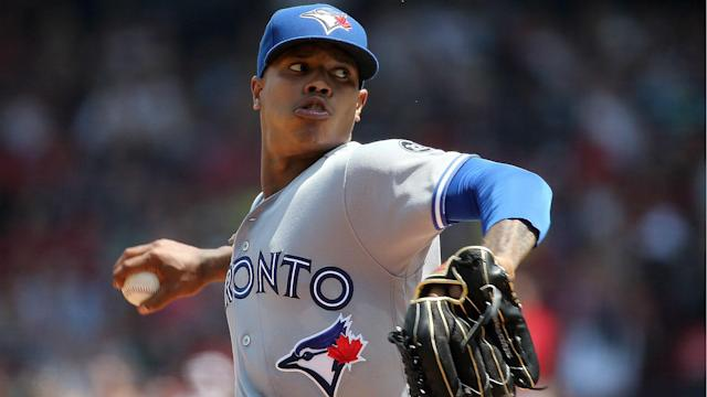 Stroman allowed three earned runs and five hits in five innings on the mound against the Red Sox on Sunday.