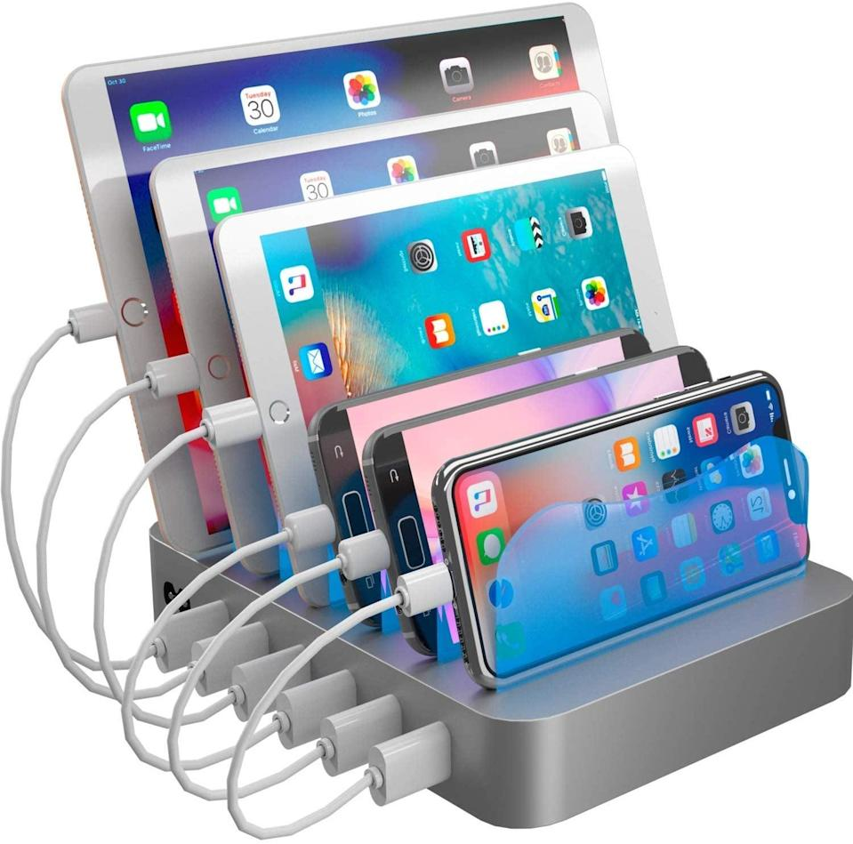 <p>They can charge all their devices at once with this useful <span>Hercules Tuff Charging Station Organizer</span> ($40).</p>