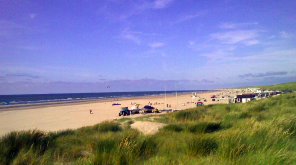 The beach in the Netherlands where the party is due to take place.