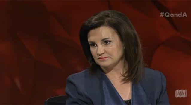 Senator Jacqui Lambie said women who accepted only the 'good bits' of Sharia law may as well say 'I only want to be a little bit pregnant'. Picture: Q&A/ABC