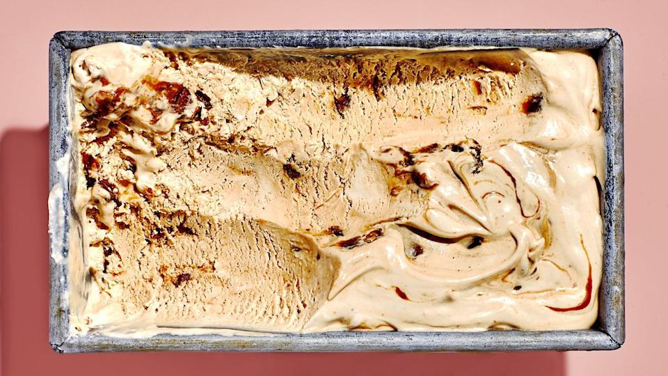 """Imagine a cross between butter pecan ice cream and salted caramel ice cream, except that the """"salted"""" part comes from miso, which makes it less cloying and more complex. Red miso is going to give you the biggest punch, but yellow or white would also work—they're just milder in flavor. <a href=""""https://www.bonappetit.com/recipe/miso-butter-pecan-ice-cream?mbid=synd_yahoo_rss"""" rel=""""nofollow noopener"""" target=""""_blank"""" data-ylk=""""slk:See recipe."""" class=""""link rapid-noclick-resp"""">See recipe.</a>"""