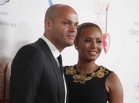 Belafonte posa com Melanie Brown em Los Angeles