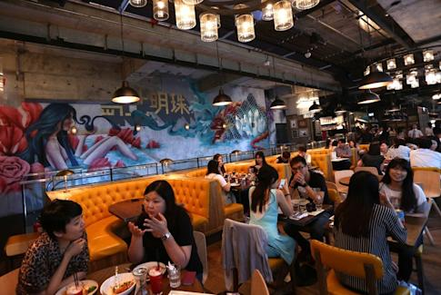 A view of Jamie's Italian in Causeway Bay on 29 August 2014. Photo: SCMP