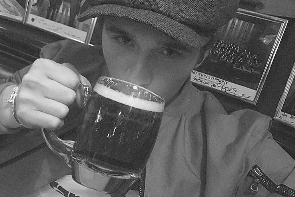 Brooklyn Beckham's first legal pint