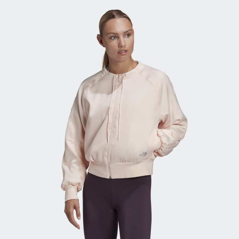 Glam On Bomber Jacket. Image via Adidas.