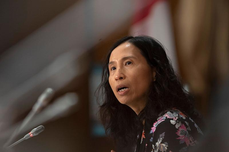 Chief Public Health Officer Theresa Tam responds to a question during a news conference in Ottawa on April 7, 2020. (Photo: Adrian Wyld/CP)