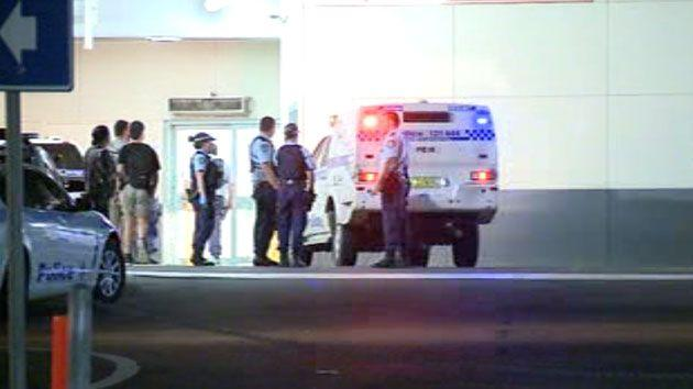 A police officer and a security guard were shot in a western Sydney hospital overnight. Photo: 7 News