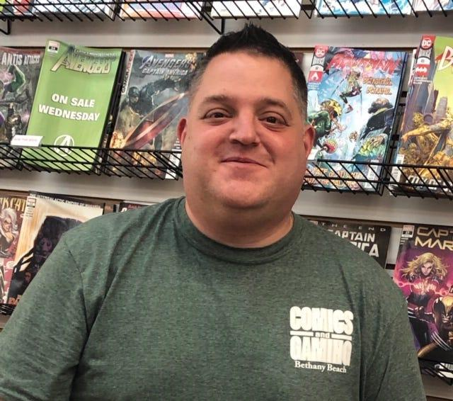 Tom Chillemi, owner of Comics and Gaming