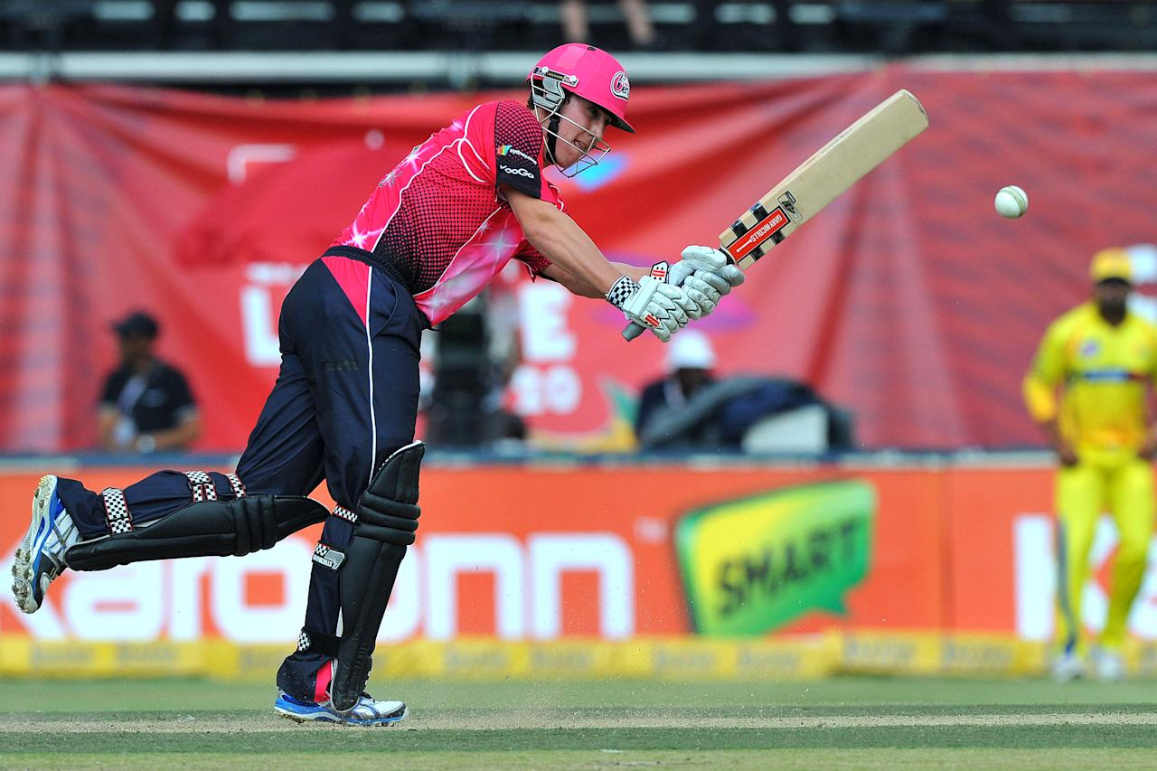 JOHANNESBURG, SOUTH AFRICA - OCTOBER 14:  Nic Maddinson of the Sixers in action during the Champions League Twenty20 match between Chennai Super Kings and Sydney Sixers at Bidvest Wanderers Stadium on October 14, 2012 in Johannesburg, South Africa. (Photo by Duif du Toit / Gallo Images/Getty Images)