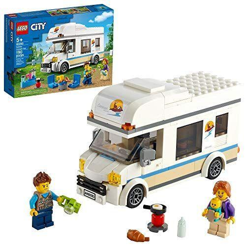 """<p><strong>LEGO</strong></p><p>amazon.com</p><p><strong>$16.00</strong></p><p><a href=""""https://www.amazon.com/dp/B08HVZBBSD?tag=syn-yahoo-20&ascsubtag=%5Bartid%7C2089.g.37696840%5Bsrc%7Cyahoo-us"""" rel=""""nofollow noopener"""" target=""""_blank"""" data-ylk=""""slk:Shop Now"""" class=""""link rapid-noclick-resp"""">Shop Now</a></p><p>Camping is fun, especially when you're not actually outside and have air conditioning and a real bed. That's why we love RVs so very much. Your little boy will love building this set and then taking the adorable family of three camping in comfort and style.</p>"""